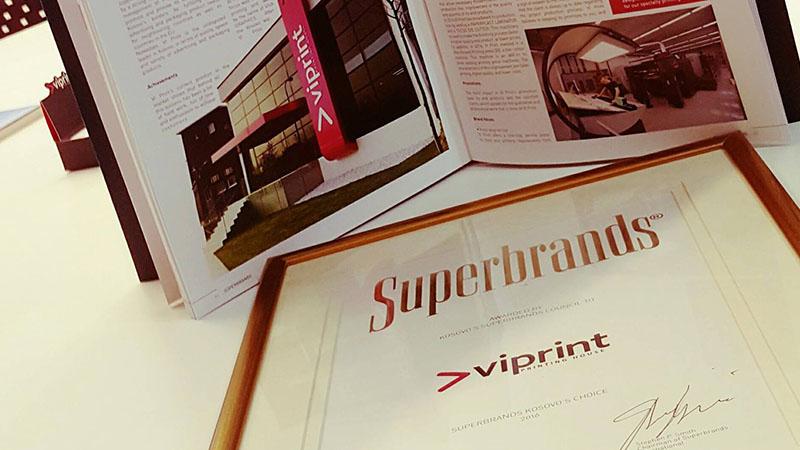 """Viprint shpërblehet me çmimin """"Superbrands"""""""